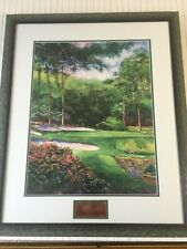 "Ken Call ""13th at Augusta"" Watercolor Limited Print, Signed, Framed, 18"" x 23"""