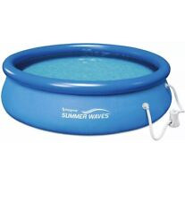 New listing Summer Waves 10ft X 30in Quick Set Ring Pool With 600 Gph Filter Pump Ship Today