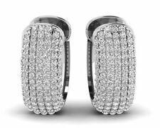 Hoop Very Good Cut Fine Diamond Earrings