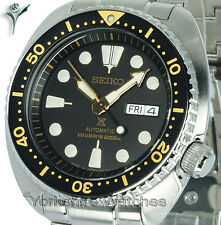 New SEIKO PROSPEX TURTLE DIVER BLACK FACE WITH STAINLESS STEEL BRACELET SRP775J1