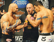 RANDY COUTURE ANTONIO RODRIGO NOGUEIRA SIGNED AUTO'D 11X14 PHOTO PSA/DNA UFC B