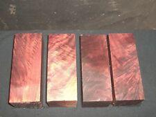 4) Figured Black Walnut 2x2x5.25 Wood Lathe Turning Spindle Blank Block !!!!!!!!