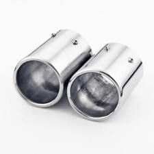 Twin Inlet Pipe Bolt-on Dual 3 inch Outlet Exhaust Tip 304 Stainless Steel Slant