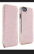 Ted Baker iPhone 7 Phone Case Wallet Rosegold Glitter
