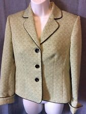 Jones studio green black blazer size 6 lined career