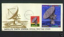 SINGAPORE STAMPS First Day Cover FDC -1971 SINGAPORE SATELLITE EARTH STATION