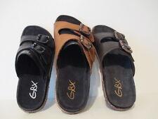 GBX Mens Standurd 16792 Slides Buckle Strap Fashion Sandals Black Tan, Lt. Brown