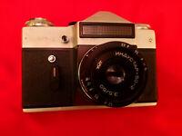 Soviet vintage ussr camera Zenit-E lens industar-50-2 3,5/50