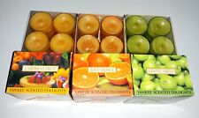 Yankee Candle Lot Of 6 12Ct Tea Lights Granny Smith Caribbean Fruit Juicy Orange