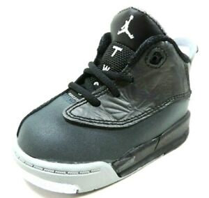 Nike Air Jordan Dub Zero TD 311072 004 Toddlers Shoes Leather Black Sneakers