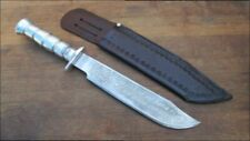 RAZOR KEEN Vintage Mexican Carbon Steel Bowie Hunting/Fighting or Survival Knife