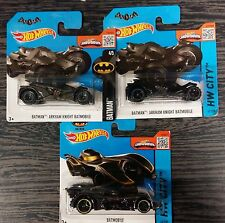 Lotto 2 pz.3 HOT WHEELS BATMOBILE BATMAN SCALA 1:64 DIE CAST MATTEL nuove