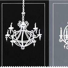 Wallpaper Wall Border Black White Gray Fancy French Chandelier Silhouettes Paris