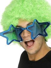 GRANDE OCCHIALI STAR NOVITÀ adulti costume da clown pagliaccio SPECIALI