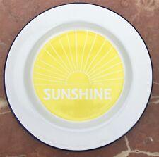 Handmade enamel plate by Kate Samuels Design UK