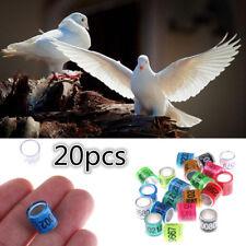 20PCS Identify Dove GB Rings Leg Rings Pigeon Bands Aluminium Rings Supplies