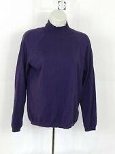 Talbots Womens Turtleneck Purple Sweater Size Petite Medium Long Sleeve