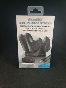 New DreamGear DG-DGPS4-6421 PS4 Dual Controller Charge Station