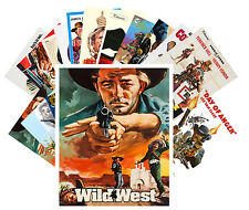 Postcards Pack [24 cards] Wild West Cowboys Vintage Western Movie Posters CC1005
