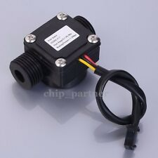 "G1/2"" 3-Wire Water Flow Hall Sensor Switch Flowmeter Flow Meter Counter 1-30L/M"