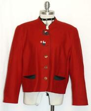 "WOOL & CASHMERE RED JACKET Women AUSTRIA Hunting Dress Suit Coat12 14 L B44"""