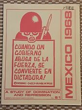 1968 Nacla Latin America/Mexico Radical Protest Politics Book Pamphlet Zine Vtg