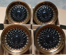 """ALLOY WHEELS X 4 16"""" BRONZE RS FOR AUDI 80 90 100 FORD MAZDA 121 2 VOLVO 4x108"""