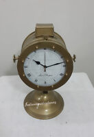 Antique Marine Full Brass Table Clock Nautical  Desk Table /  Home Decor Clock