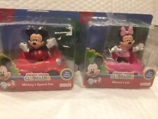 DISNEY MICKEY MOUSE CLUBHOUSE MINNIE AND MICKEY CARS AND FIGURES BRAND NEW HTF