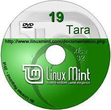 Linux Mint 19 XFCE desktop Long Term Support 32 bit DVD  Full Operating System
