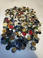 More details for large assorted job lot colourful vintage buttons app 1 kg. crafters collectors