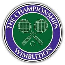"Wimbledon Tennis Racquet Ball Car Bumper Window Sticker Decal 4.6""X4.6"""