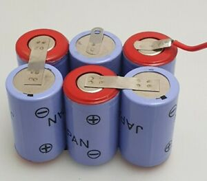 7.2V 600mAh NiCd Rechargeable Battery Pack ( 1/2A x 6)