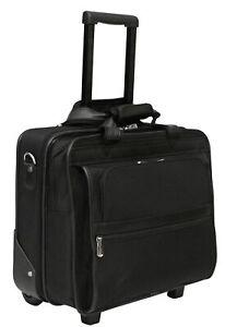 Laptop Roller Bag Wheeled Pilot Case Briefcase Overnight Business