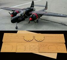 "57"" wingspan P-61 Black Widow R/c Plane short kit/semi kit and plans"