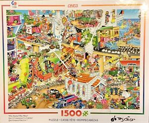Ceaco 1500 Piece Jigsaw Puzzle RJ Crisp Who Started This Mess? NEW 3401-27