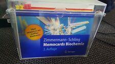 Memocards Biochemie Lernkarten Zimmermann, aktuelle 2. Auflage Prüfung Löffler