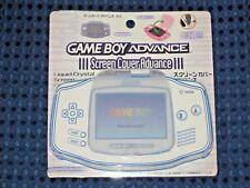 RARE Nintendo Game Boy Advance Screen Cover Protector Milky Blue GBA JAPAN F/S