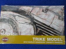 GENUINE OEM 2012 Harley Davidson touring trike  owners manual
