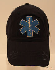 Professional EMT Paramedic Cap Blue Rescue Hat Caduceus Emergency Star of Life