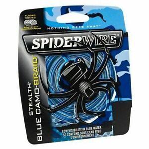 Spiderwire Stealth Braided Fishing Line 150m or 300m Spool Braid - BLUE CAMO