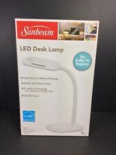 Sunbeam LED Adjustable/Dimmable Desk Lamp White NIB
