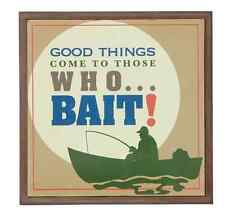 """Those Who Bait"" Wall Art, Fish, Fishing Themed, Big Sky Carvers"