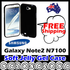 Samsung Galaxy Note 2 II N7100 Grey Soft Jelly TPU Gel Silicone Skin Case Cover