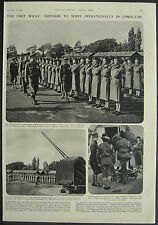 1st WRAC Gunners To Serve Operationally In Gibralter 1952 1 Page Photo Article