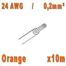 Fil de cablage 24AWG / 0,2mm² Orange 10m