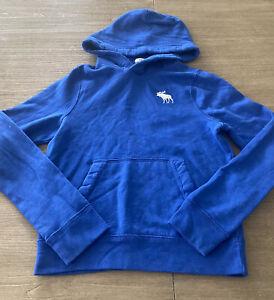 Abercrombie Kids Hooded Pullover Moose Embroidered Logo Sweatshirt Boy's XL EUC
