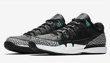 Nike Zoom Vapor Tour Air Jordan 3 Size 6.5 AJ3 Roger Federer Black Cement