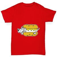 Twisted Envy Boy's Hot Dog Funny Cotton T-Shirt