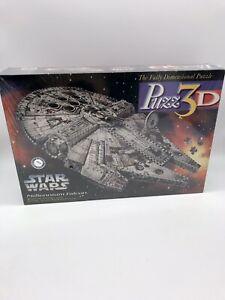 Puzz3D Vintage 1995 Star Wars Millennium Falcon 3D Puzzle Milton Bradley SEALED